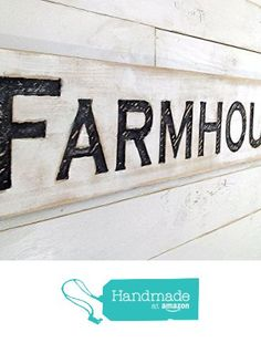 "Farmhouse Sign Horizontal - Carved in a 48"" Wide Cypress Board Rustic Distressed Shop Advertisement Farmhouse Style Restaurant Cafe Wooden Wood from Americana Signs https://www.amazon.com/dp/B01BLYUSZA/ref=hnd_sw_r_pi_dp_9d7nyb3WVEA8S #handmadeatamazon"