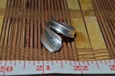 Hand Hammered / Made Wide Silver Spoon Solid Ring Size 8 FSR1   #Handmade #vintagespoonring