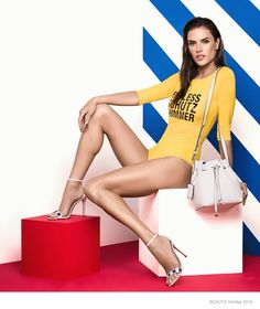 Alessandra Ambrosio Is Ready For The Sun In Schutz's Vacation 2015 Advertisements | Fashion
