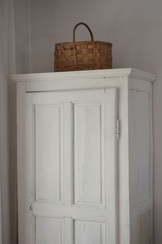 Old painted cupboard