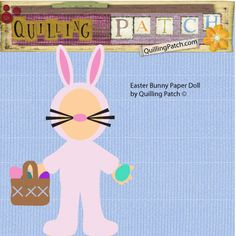 easter bunny paper doll svg cutting file