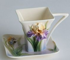 Square teacup and saucer