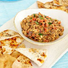 Easy and Delicious Dips | Grilled Vegetable Dip with Pita Chips | AllYou.com