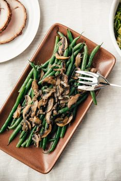 Recipe: Stovetop Steam-Fried Green Beans and Mushrooms