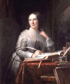 Anna Maria van Schurman (1607-1678) volgde colleges aan de Utrechtse Universiteit. Uit dbnl · digitale bibliotheek voor de Nederlandse letteren