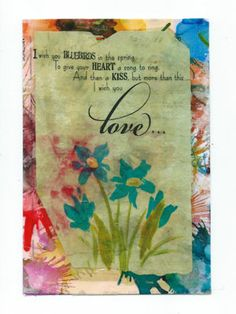 Spring Theme Mixed Media Mail Art by The Artful Crafter, www.theartfulcrafter.com