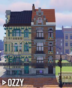 Minecraft City Buildings, Minecraft Structures, Minecraft Mansion, Minecraft Cottage, Minecraft Room, Minecraft Plans, Minecraft Tutorial, Minecraft Architecture, Minecraft Blueprints