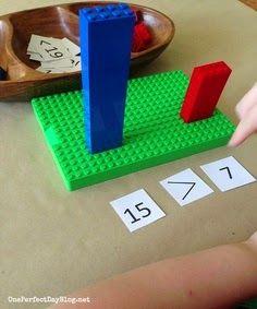 Lego math games for kids - Math for kids. Math Classroom, Kindergarten Math, Teaching Math, Math Games For Kids, Math Activities, Math Numbers, Homeschool Math, Montessori Math, Homeschooling