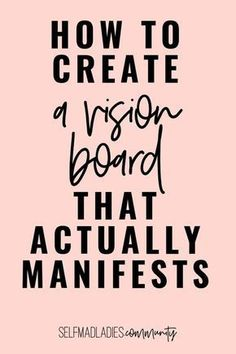 Learn how to make a Vision Board that works! With this step by step guide, you can finally learn how to use the law of attraction the right way and manifest everything you want into your life…