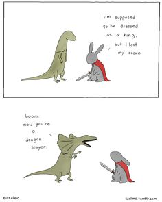 I want this costume, though maybe dragon warrior would be better - by Liz Climo