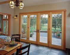 Alternative to sliding glass doors -- full length of living area.