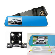 2017 new cars dvr car camera dual lens recorder video registrator rearview mirror auto dvrs full hd1080p night vision dash cam