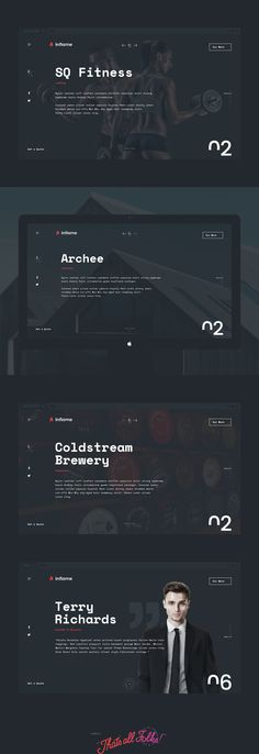 This is a Portfolio Redesign Project for Australian Agency Called Inflame