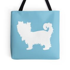 'Yorkie Yorkshire Terrier - White Silhouette' by OutlineArt Silhouette S, Yorkshire Terrier, Yorkie, Reusable Tote Bags, Puppies, Pets, Dog, Yorkshire Terriers, Diy Dog