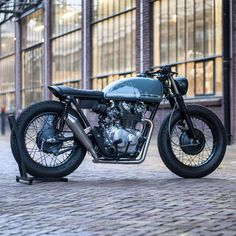 """""""A Honda CB450 done absolutely right by @frankedens. Dat exhaust! More by @classiclifecycles on their page. . #croig #caferacersofinstagram"""""""