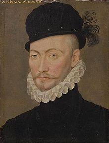 Gabriel de Lorges, comte de Montgomery, général des huguenots- A la cour des Valois, Agrippa assista à l'exécution du Comte de Montgomery sur la place de Grève, le 26 juin 1574, qu le salua, lui en Fervaques avant de mourir. Agrippa fait parti des compagnons du roi de Navarre lorsque ce dernier fuit la cour le 4 février 1576.