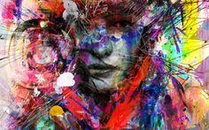 """Saatchi Art Artist yossi kotler; Painting, """"helios- goddess of the sun"""" #art"""
