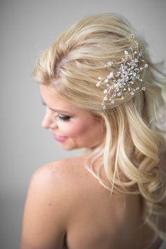 Crystal Bridal Comb Wedding Hair Accessory  by PowderBlueBijoux, $69.00