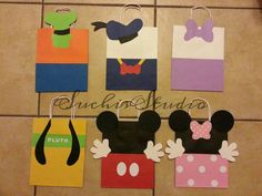 12 Mickey mouse clubhouse goody bags/mickey and by SuchisStudio