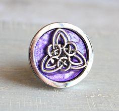 Purple Triquetra Drawer Pull, Cabinet Knob, Cabinet Pull, Drawer Handle,  Dresser Knob