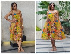 Here are some simple cute African Print dresses from her. These dresses are so versatile you ca… African Print Dress Designs, African Print Dresses, African Print Fashion, Africa Fashion, African Wear, African Attire, African Dress, African Clothes, Ankara Designs