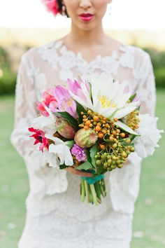 Wedding Inspiration |  Floral Arrangements -  Wedding Bouquet