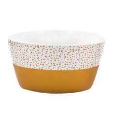 Bowl de cerámica pintado a mano.