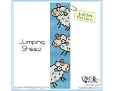 Bead Loom Pattern Jumping Sheep INSTANT by VikisBeadingPatterns