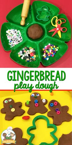 Do your kids love to play with playdough? Make this super easy gingerbread playdough for hours of learning and fun! - Education and lifestyle Preschool Christmas Activities, Gingerbread Man Activities, Gingerbread Crafts, Playdough Activities, Christmas Gingerbread, Preschool Crafts, Toddler Activities, Crafts For Kids, Gingerbread Houses