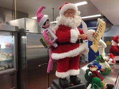 Hazel the #healthyelf @ Denham Oaks Elementary was helping Santa with his shopping list & eating our healthy raisins.  #elfonashelf #elfontheshelf