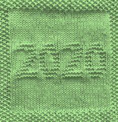 Free knitting pattern for 2020 year washcloth dishcloth afghan square. Lots of p. Free knitting pattern for 2020 year washcloth dishcloth afghan square. Lots of patterns available - afghan square, washc. Knitted Squares Pattern, Knitted Dishcloth Patterns Free, Knitting Squares, Knitted Washcloths, Crochet Dishcloths, Knitted Blankets, Knitting Patterns Free, Free Knitting, Baby Knitting