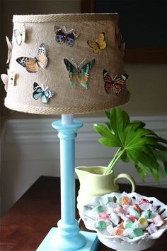 Such a creative idea! Butterfly specimen lamp from @Malia Martine Karlinsky of Yesterday on Tuesday.