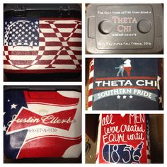 Theta Chi Cooler, Fraternity Cooler, Painted Cooler, Theta Chi, Fraternity