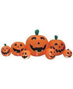 PUMPKIN PATCH 8.5 FT LONG - CostumePub.com Halloween Lawn Decorations, Halloween Costumes For Kids, Scary Halloween, Halloween Pumpkins, Fall Halloween, Happy Halloween, Pumpkin Decorations, Christmas Nightgowns, Inflatable Pumpkin