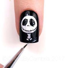 Halloween Nails - My best nail list Holloween Nails, Cute Halloween Nails, Halloween Nail Designs, Halloween Halloween, Skull Nail Designs, Halloween Office, Ongles Gel Halloween, Halloween Acrylic Nails, Nail Art Designs Videos