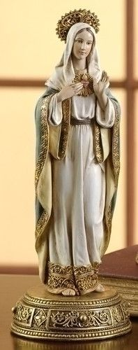 Immaculate Heart Of Mary Ornate Statue Renaissance Collection