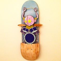 Skateboard deck by toybox_monster