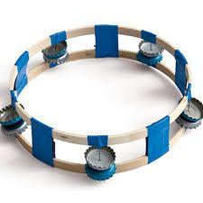 homemade tambourine for Girl Scout Junior Musician Badge