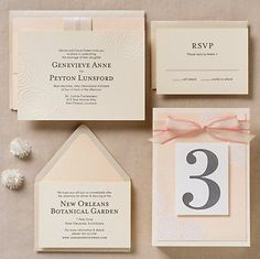 Embossed Roses Wedding Invitation - Genevieve & Peyton | Paper Source