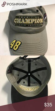 317cf425 Jimmie Johnson #48 Lowes Vintage Trucker Hat Jimmie Johnson #48 Lowes  Vintage Trucker Style
