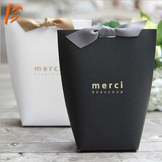 Source Merci Samll Paper Packaging Tie Box Favor Wedding Candy Gift box on Cookie Packaging, Gift Box Packaging, Paper Packaging, Jewelry Packaging, Packaging Design, Luxury Packaging, Packaging Ideas, Wedding Packaging, Candy Gift Box