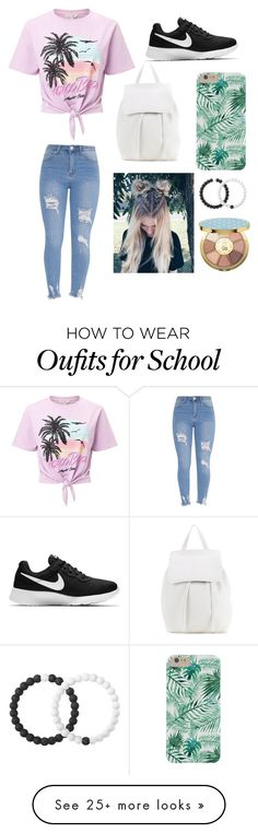 """back to school"" by jassnove on Polyvore featuring Miss Selfridge, NIKE, Mansur Gavriel, Lokai and tarte"