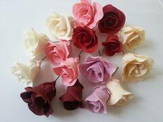 Wired Edible Multicolor Sugarpaste Roses for Cake Decoration Wedding Celebration