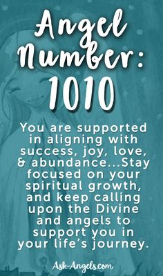 Angel Number 1010 #angels #angelnunmbers #divinelove