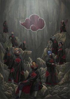 Kakuzu, Hidan, Deidara, Sasori, Kisame Hoshigaki, Itachi Uchiha, Zetsu, Pein, Konan & Obito Uchiha