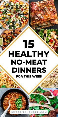 List of quick and easy meatless monday meals! Healthy meatless dinner recipes and meals for you to cook for your family. If you're looking for easy vegetarian recipes, then check out these no meat healthy eating options! #nomeat #meatlessmonday #vegetarian #healthymeals Vegetarian Food List, Vegetarian Recipes Easy, Veggie Recipes, Lunch Recipes, Healthy Recipes, Healthy Foods, Clean Eating Grocery List, Clean Eating Recipes, Healthy Eating