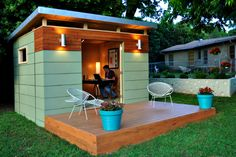 pre-fab studios, cabins and studios, an affordable option to building on to your house. LOVE these!