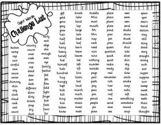 Sight Words - Challenge List 4th grade sight words, slinky word character trait is really cool, plus more!!