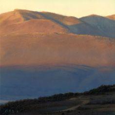 """Brett Scheifflee, """"Rocky Mountain Sunrise"""" Oil on Panel 6""""x 6"""""""