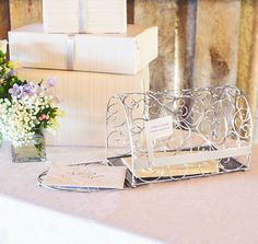 Use this Silver Mailbox Card Holder to collect all the envelopes and small gifts at your wedding.